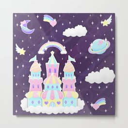 Dreamy Cute Space Castle Metal Print