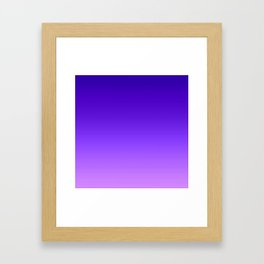 Blue Purple Ombre Framed Art Print