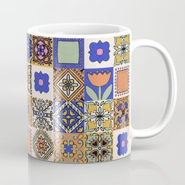 Hand Drawn Floral Patchwork Coffee Mug