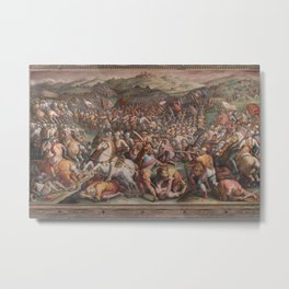 Classic Art The battle of Marciano in Val di Chiana By Giorgio Vasari Metal Print