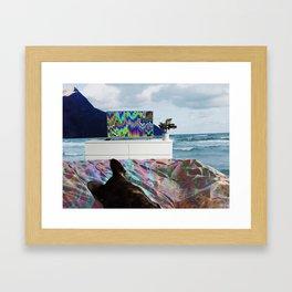 Benji In Wonderland Framed Art Print