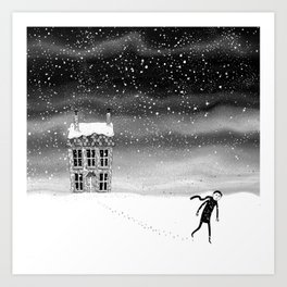 Inside the Snow Globe  Art Print