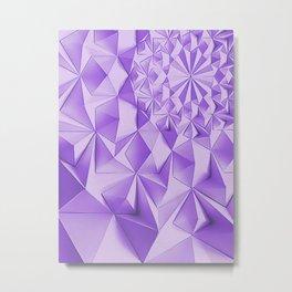 Purple fractals, geometric figures pattern, violet triangles, diamonds, rhombus, asymetric bricks Metal Print