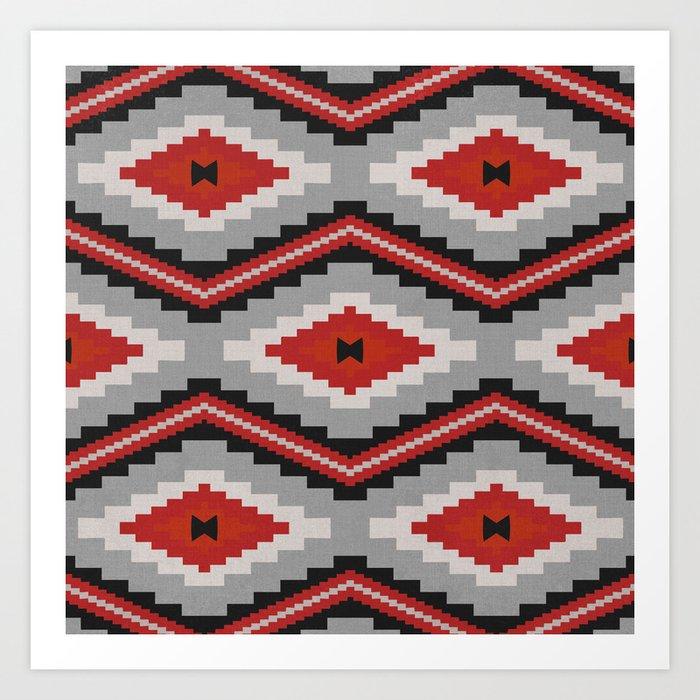 Navajo red Art Print