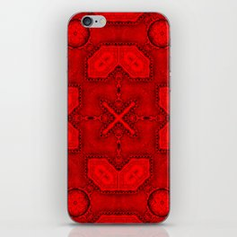 Victorian Art Deco Medieval Pattern bright red SB26/2 iPhone Skin