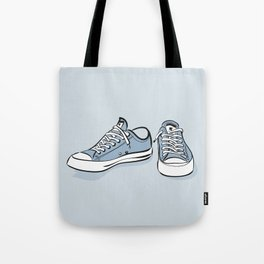 Grey Sneakers Tote Bag