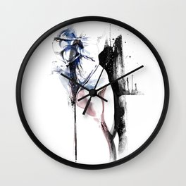 Shibari - Japanese BDSM Art Painting #4 Wall Clock
