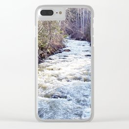 White Water in the Forest Clear iPhone Case