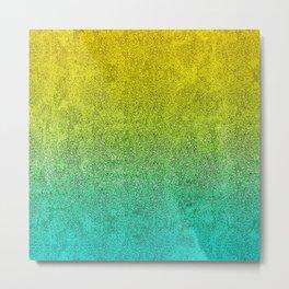 Ocean Sunrise Glitter Gradient Metal Print