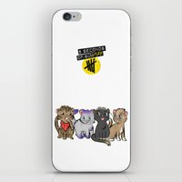 5 seconds of summer iPhone & iPod Skins featuring 4 cats for 5 seconds - white by Australienidiots