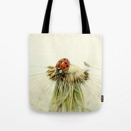 Dandelion Ladybugs Tote Bag