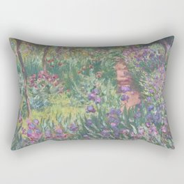 Monet's garden at Giverny Rectangular Pillow