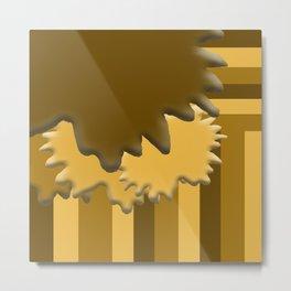 Shades of Brown 4 Metal Print