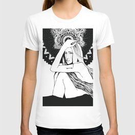 The girl looks into infinity T-shirt