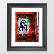 Back Alley Street Art Framed Art Print