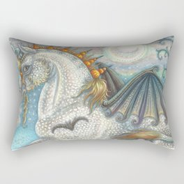 SPELLBOUND - Gothic Halloween Unicorn Rectangular Pillow