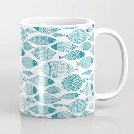 Green Fish White Coffee Mug