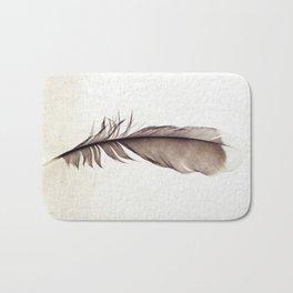 Feather Photograph: Ephemeral Bath Mat