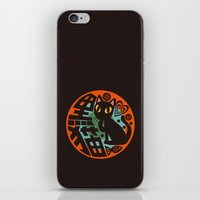 black cat iPhone & iPod Skins featuring Black Cat by BATKEI