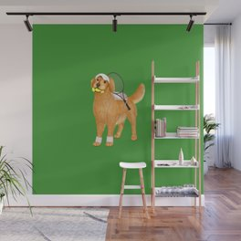 Ready for Tennis Practice (Green) Wall Mural
