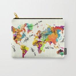 world map art text Carry-All Pouch