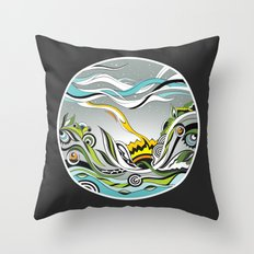 When the Earth meets the Sky Throw Pillow