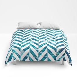 Watercolor Herringbone Comforters