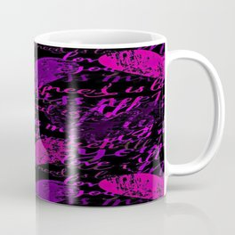Kiss Me, Miss Me Purple Coffee Mug