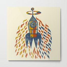 Self-firing rocket Metal Print
