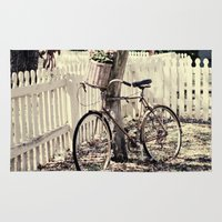bike Area & Throw Rugs featuring bike  by Beverly LeFevre