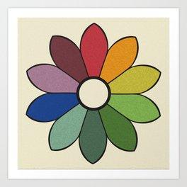 James Ward's Chromatic Circle (no background) Art Print