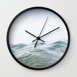 Rippling sea swell, Porthcurno, Cornwall Wall Clock