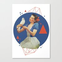 dorothy Canvas Prints featuring Dorothy by Cut and Paste Lady