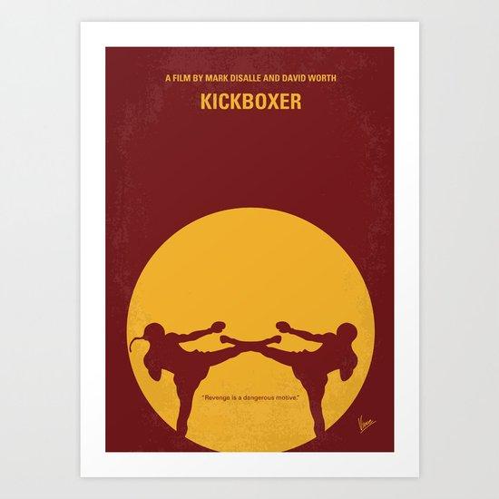 No178 My Kickboxer minimal movie poster Art Print