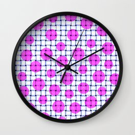 BASKETWEAVE PATTERN 5 Wall Clock