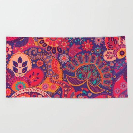 Shabby flowers #24 Beach Towel