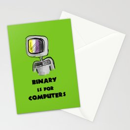 binary is for computers Stationery Cards