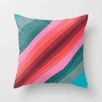 cracked Throw Pillows featuring Cracked  by K I R A   S E I L E R