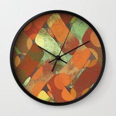 Autumn shapes Wall Clock