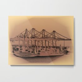 Harbor mood Metal Print