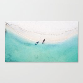 Somewhere in the Caribbean sea Canvas Print