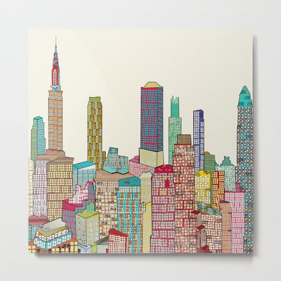 new york modern  Metal Print