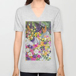 Flower and Garden Unisex V-Neck