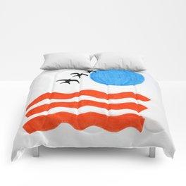 Blue Sunset Comforters