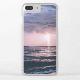 Lightning over the Strait of Georgia Clear iPhone Case