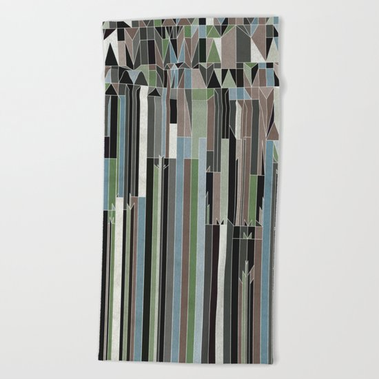 Penthouses and Parks (3) Beach Towel