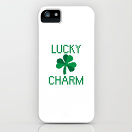 8 Bit Clover/Shamrock - Lucky Charm Pixel iPhone Case