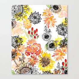 Autumn Florals Canvas Print