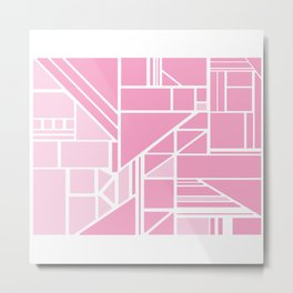 Pink with Pink Metal Print