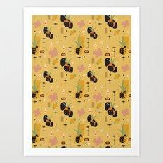 Mod Pineapples Art Print